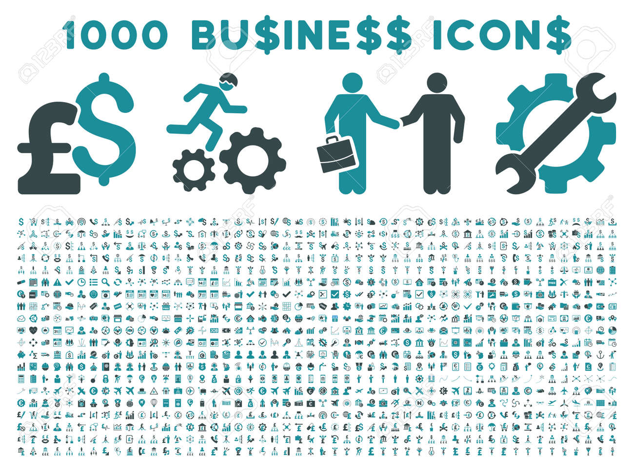 1000 business vector icons pictogram style is bicolor soft blue flat icons on a white basic icons flat icons 1000