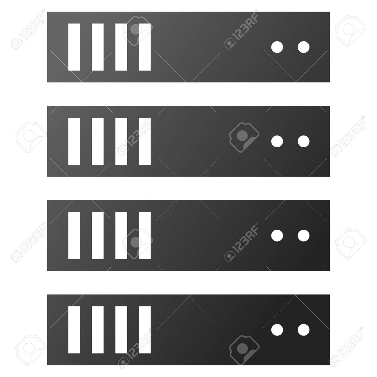 Server Rack Vector Toolbar Icon For Software Design Style Is Royalty Free Cliparts Vectors And Stock Illustration Image 54091567