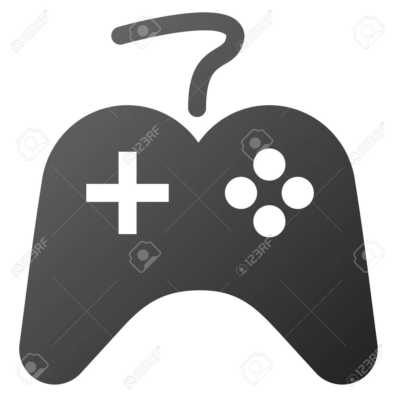 Game Controller Raster Toolbar Icon For Software Design Style