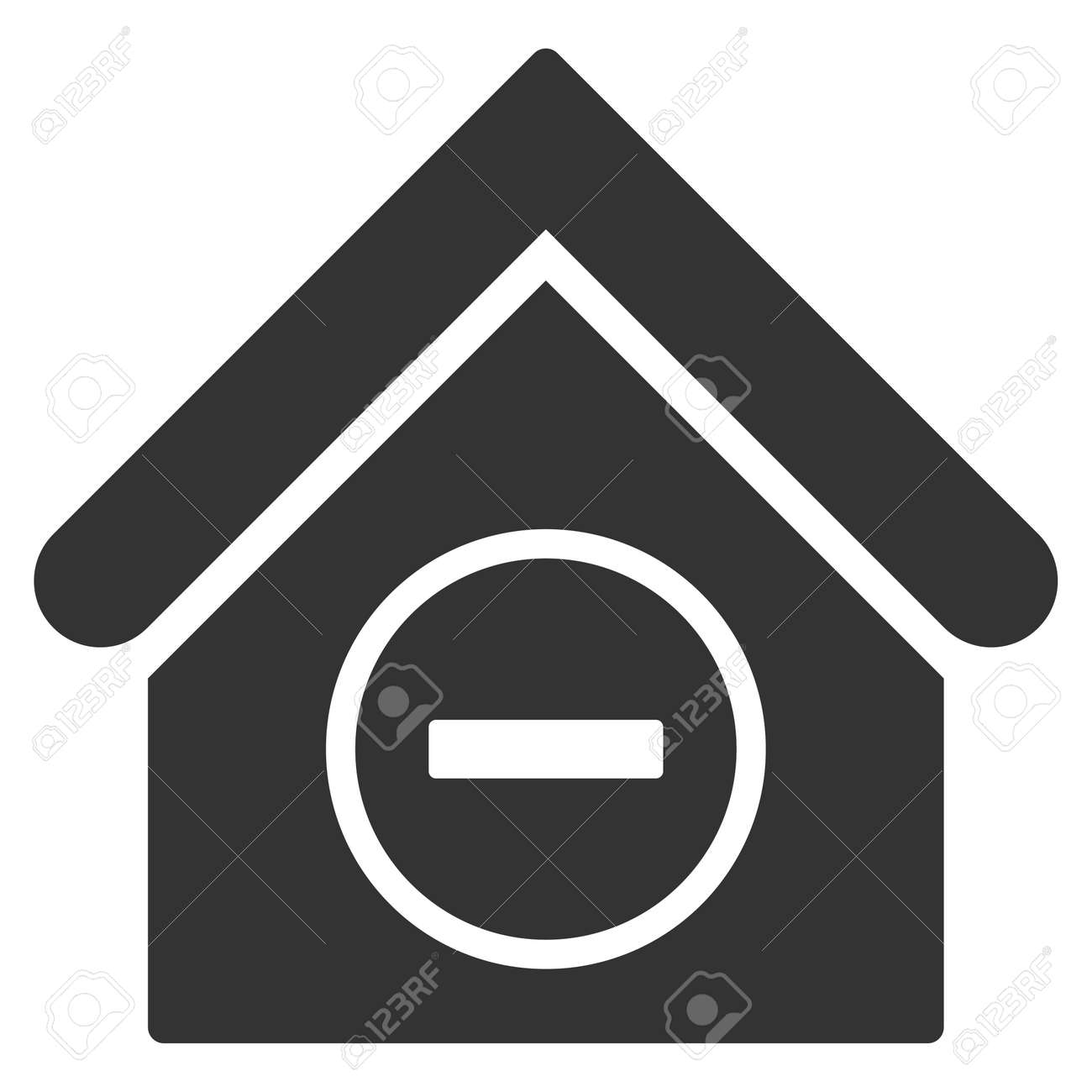 Remove building icon vector style is flat iconic symbol gray remove building icon vector style is flat iconic symbol gray color white background biocorpaavc