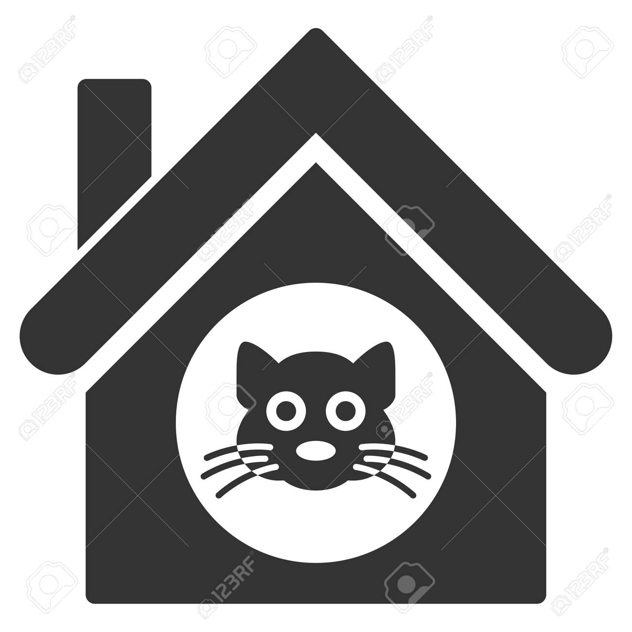 Tremendous Cat House Icon Vector Style Is Flat Iconic Symbol Gray Color Home Interior And Landscaping Synyenasavecom