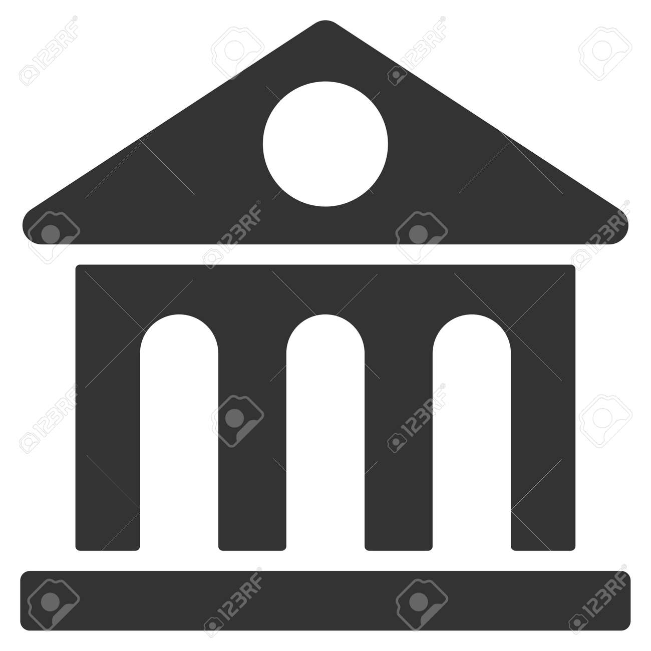 Museum building icon vector style is flat iconic symbol gray museum building icon vector style is flat iconic symbol gray color white background biocorpaavc