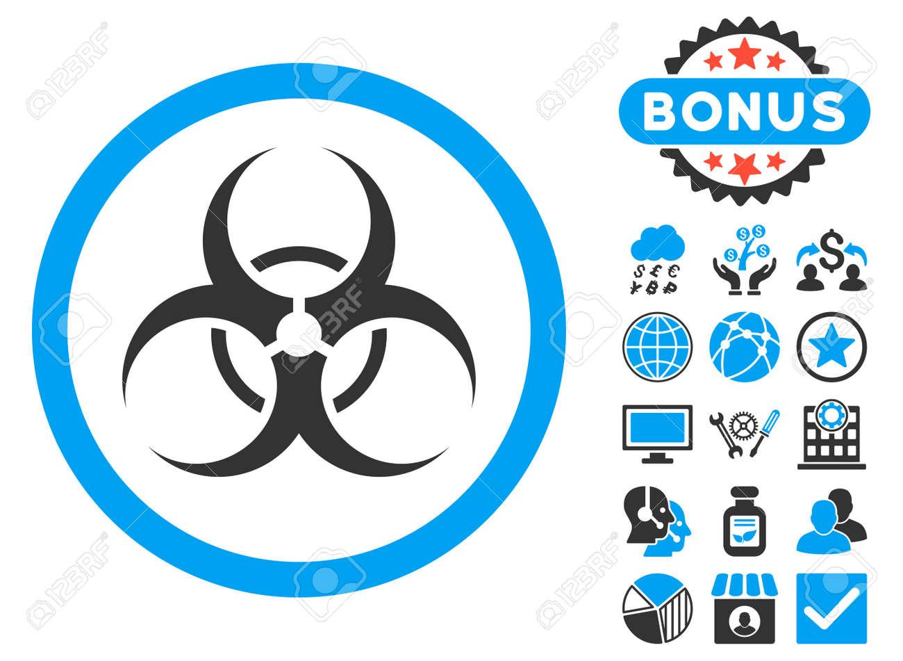 Biohazard symbol icon with bonus symbols vector illustration biohazard symbol icon with bonus symbols vector illustration style is flat iconic bicolor symbols biocorpaavc Images