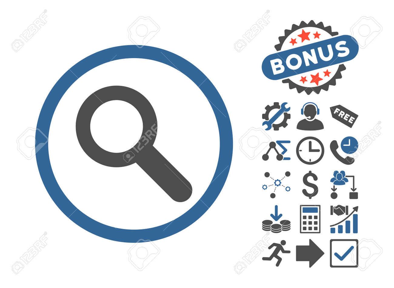 Search Icon With Bonus Clip Art Glyph Illustration Style Is Stock