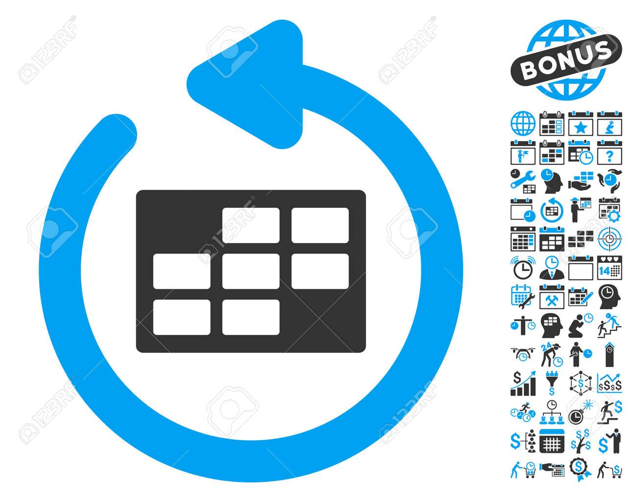 Actualizar Calendario.Actualizar El Icono De La Tabla Del Calendario Con Imagenes De Bonificacion Del Calendario Y De Gestion Del Tiempo El Estilo De La Ilustracion Del