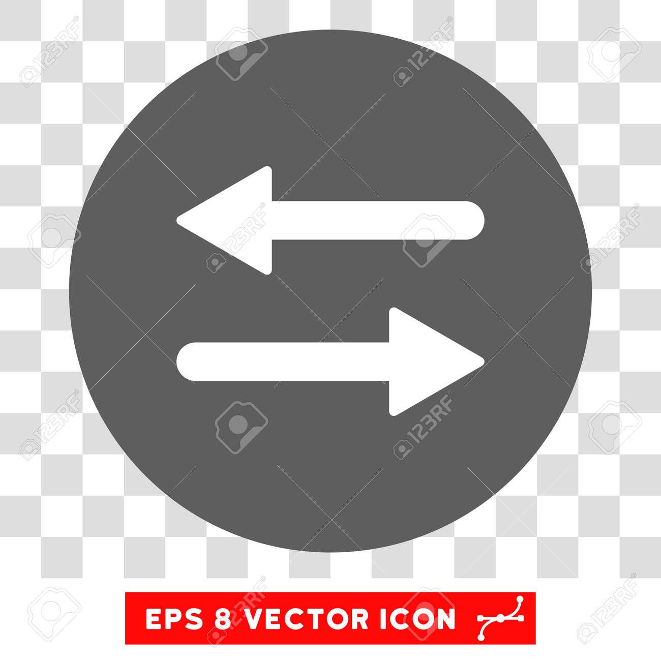 Horizontal exchange arrows round icon vector eps illustration horizontal exchange arrows round icon vector eps illustration style is flat iconic bicolor symbol buycottarizona