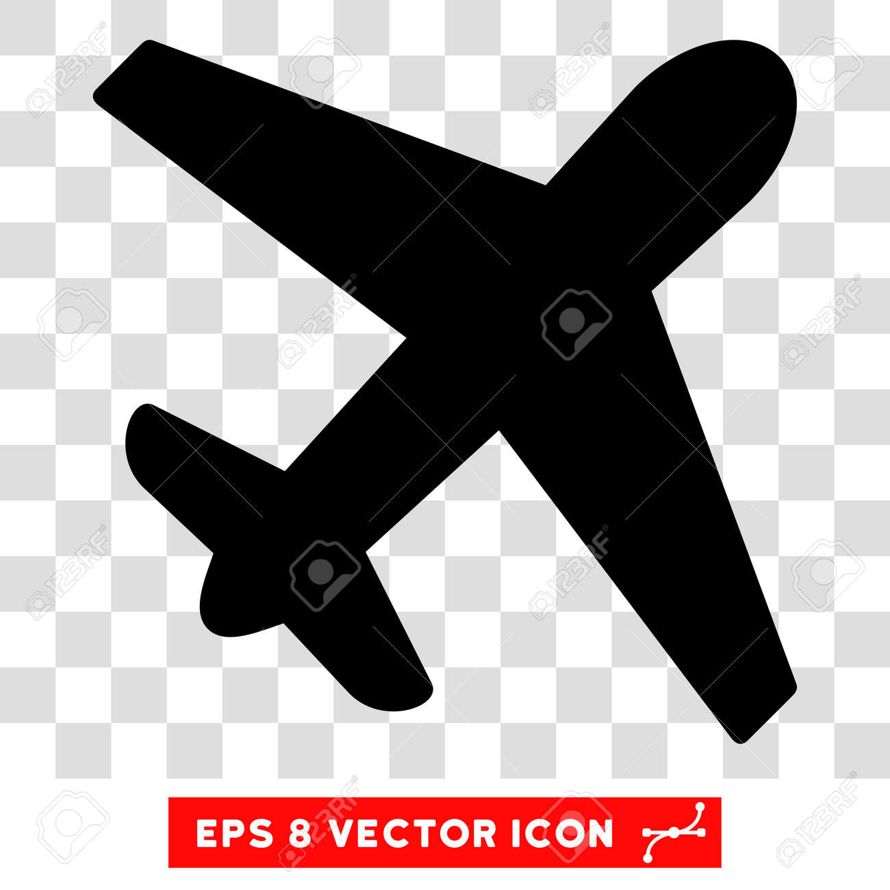 Vector Airplane EPS Icon Illustration Style Is Flat Iconic