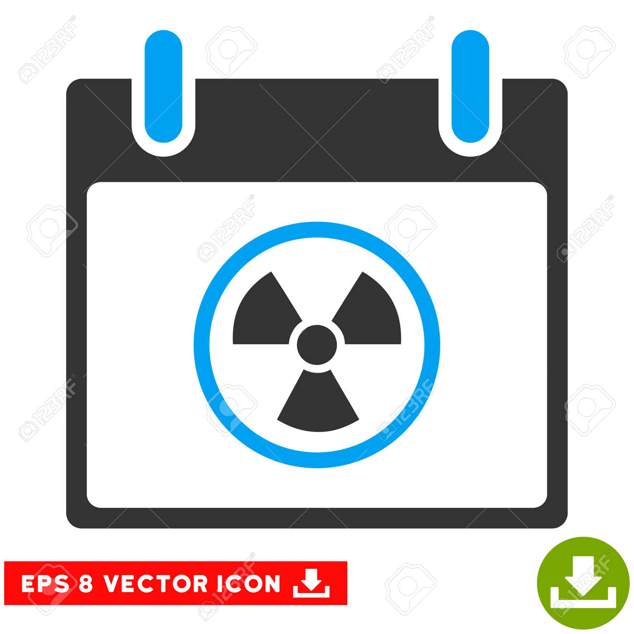 Atomic Calendar Day Icon Vector Eps Illustration Style Is Flat