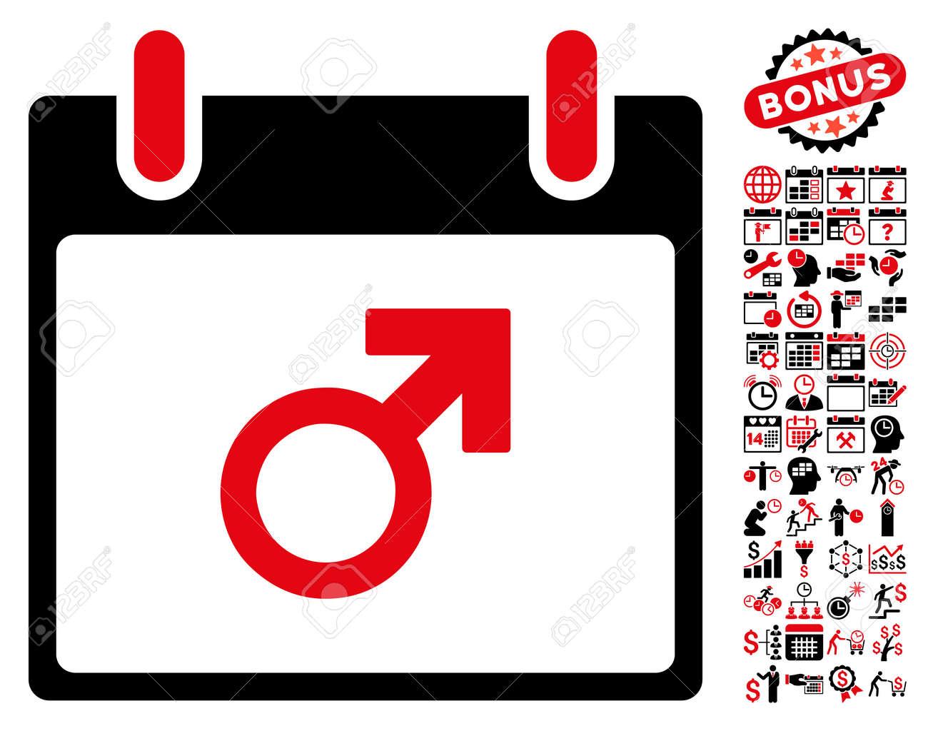 Simbolo Calendario.Mars Maschio Simbolo Calendario Giorno Pittogramma Con Il Calendario Di Indennita E Di Gestione Del Tempo Icone Grafiche Stile Vettore E Simboli
