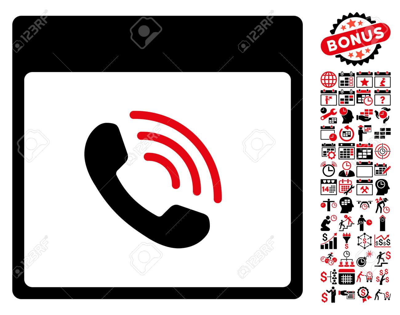 phone call calendar page icon with bonus calendar and time rh 123rf com