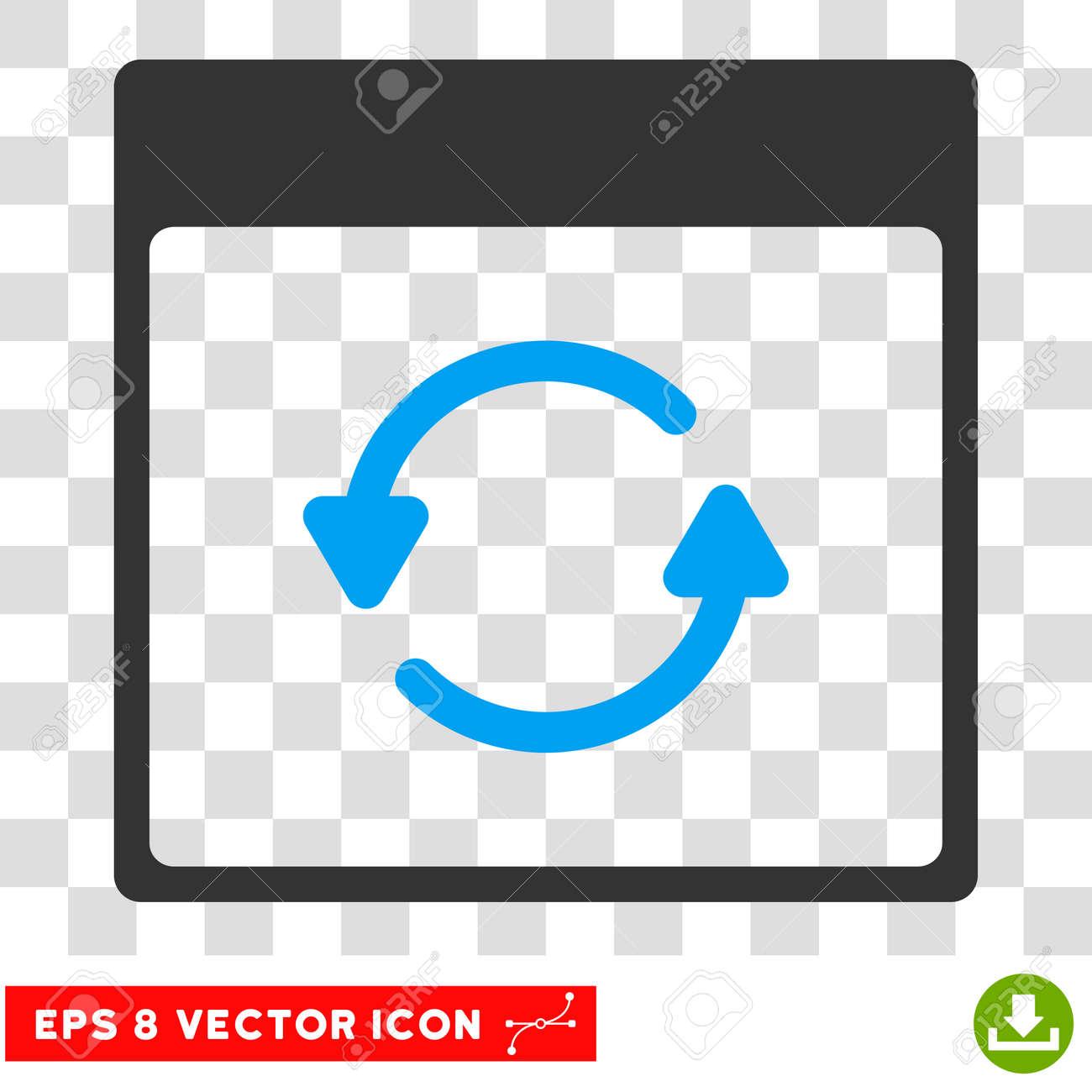 Actualizar Calendario.Vector Actualizar Calendario Pagina Eps Vector Icono El Estilo De La Ilustracion Es Plano Iconico Bicolor Simbolo Azul Y Gris Sobre Un Fondo