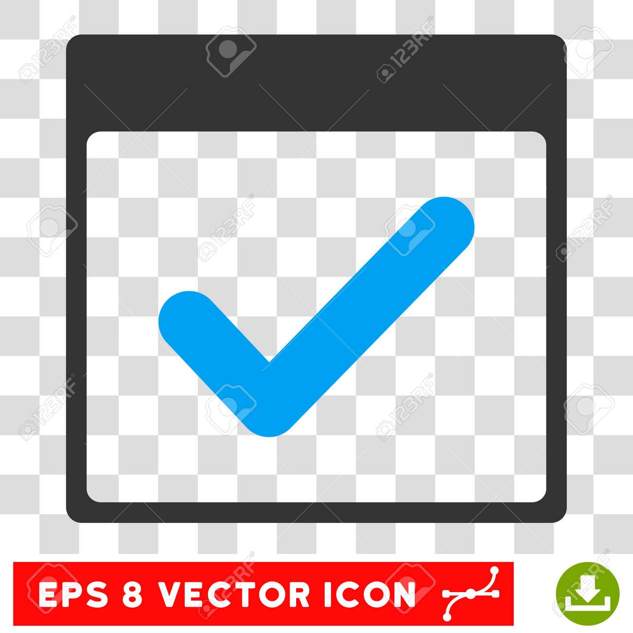 Vector Valid Day Calendar Page EPS Vector Pictogram Illustration
