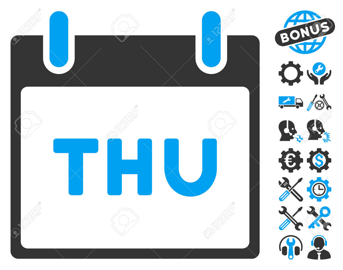 thursday calendar page icon with bonus options clip art vector rh 123rf com calendar clip art for january calendar clipart images