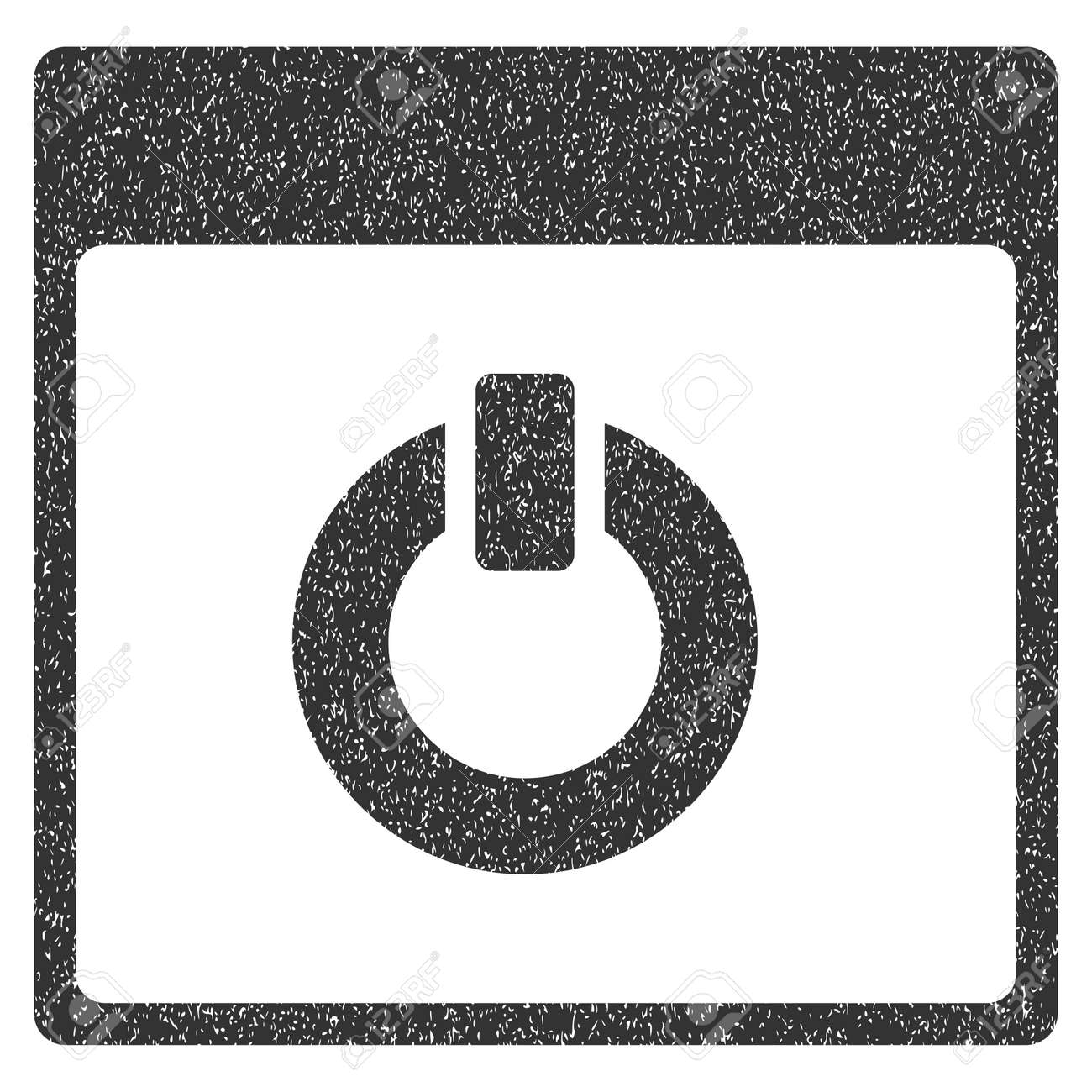 Switch On Calendar Page Grainy Textured Icon For Overlay Watermark ...