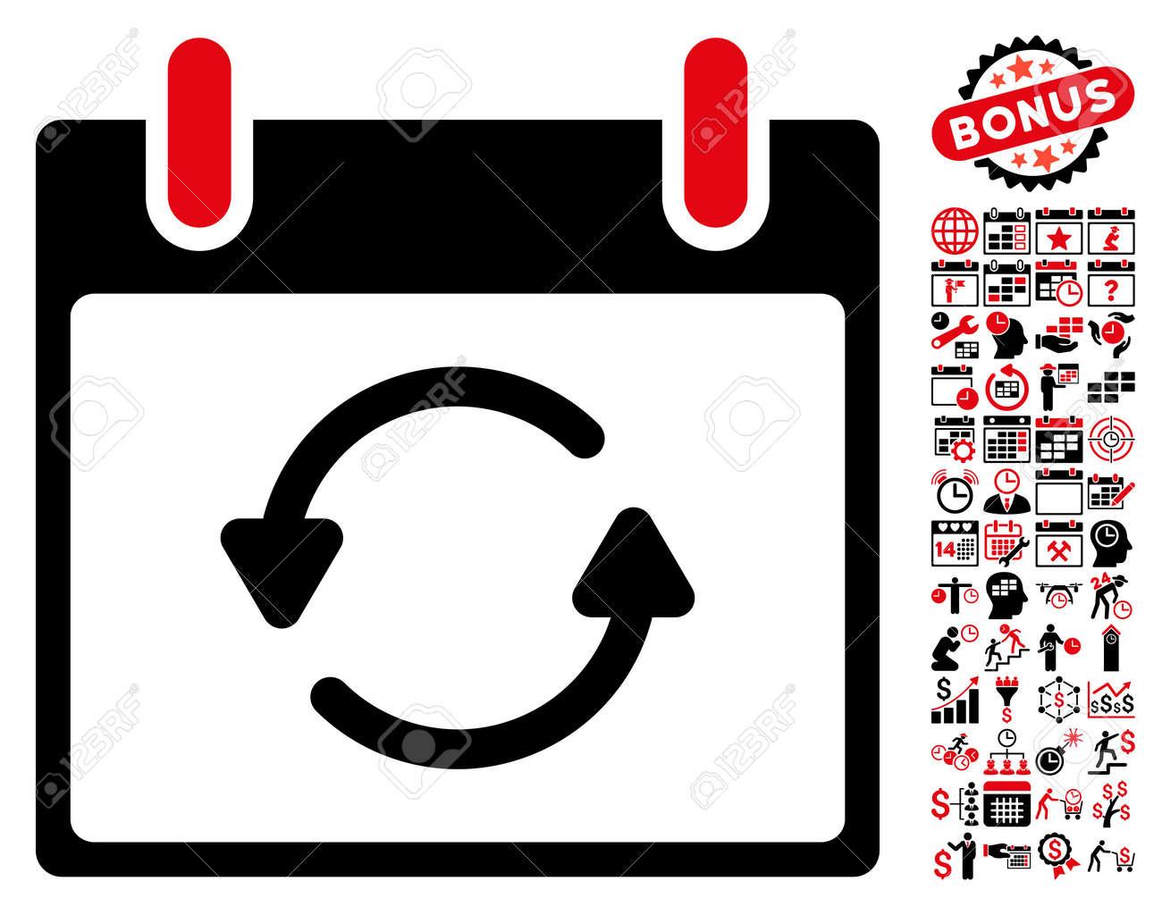 Actualizar Calendario.Actualizar El Pictograma Del Dia Calendario Con Simbolos Extra De Calendario Y Administracion Del Tiempo El Estilo Del Ejemplo Del Glifo Es Simbolos
