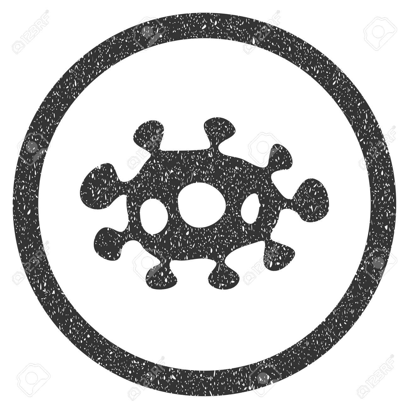 Virus Sello De Caucho Sello Marca De Agua. Símbolo Del Icono Dentro ...