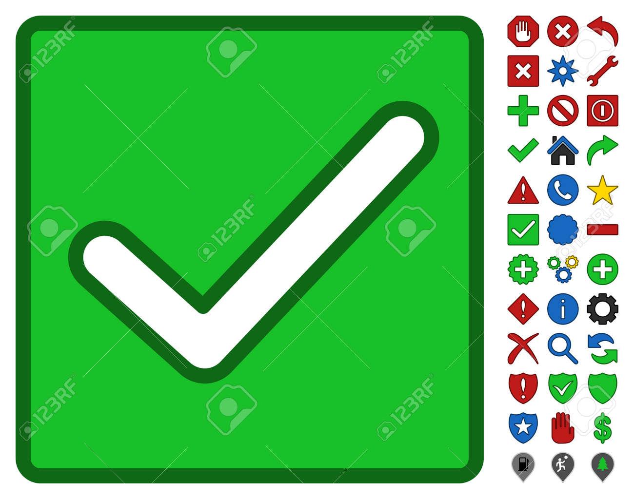 valid checkbox interface toolbar pictogram with bright toolbar rh 123rf com checkbox symbol clipart
