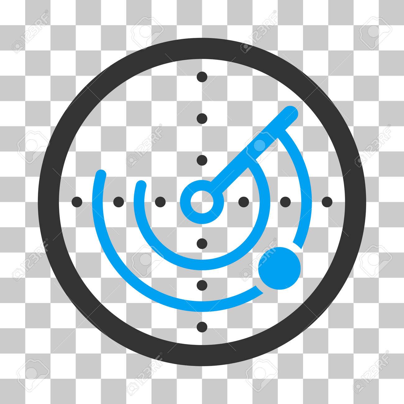 Radar Vector Icon Illustration Style Is Flat Iconic Bicolor