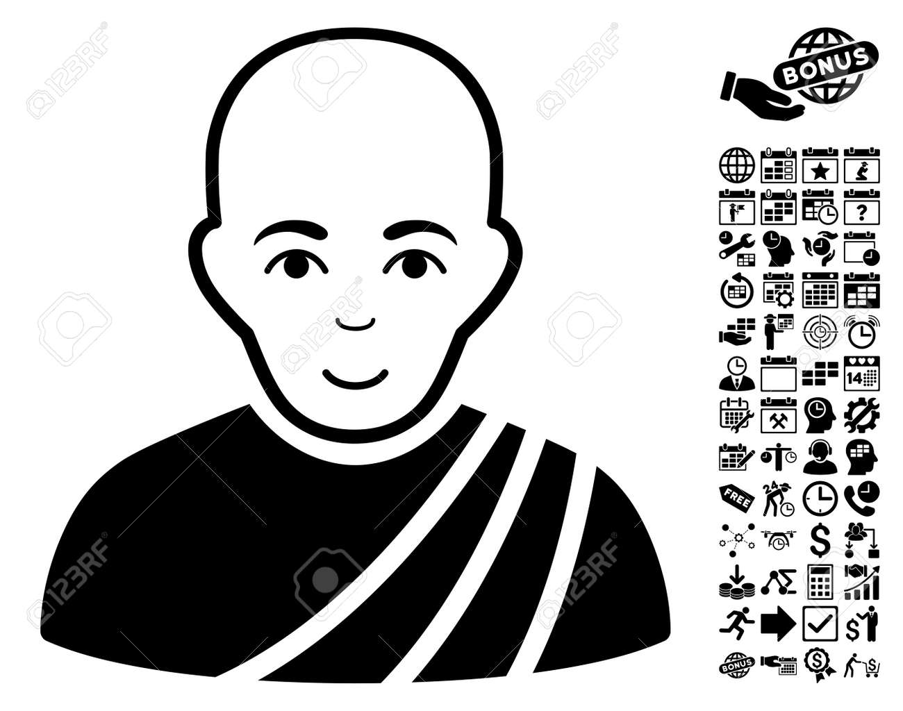 575 Buddhist Priest Stock Vector Illustration And Royalty Free