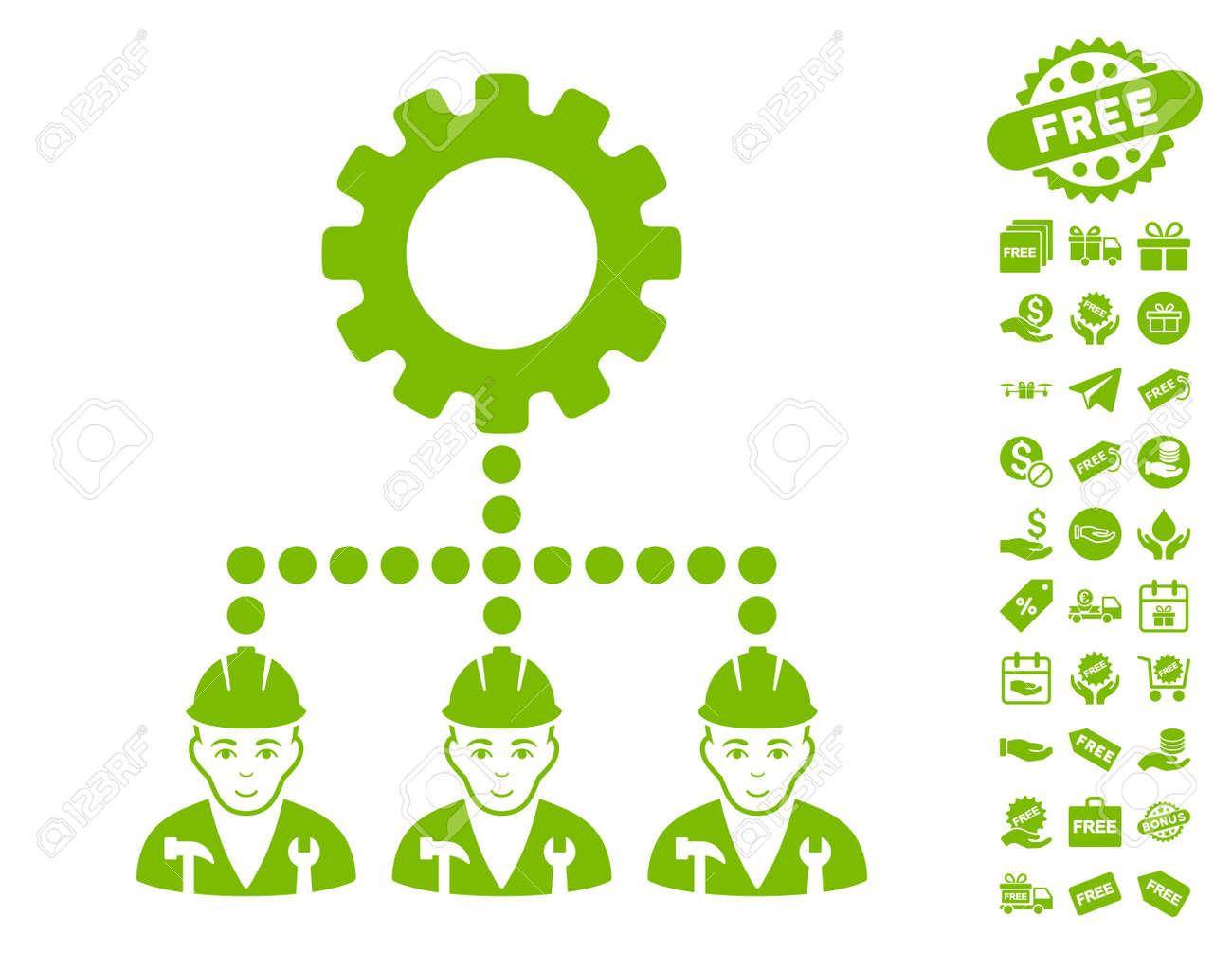 Service staff icon with free bonus symbols vector illustration service staff icon with free bonus symbols vector illustration style is flat iconic symbols biocorpaavc Images
