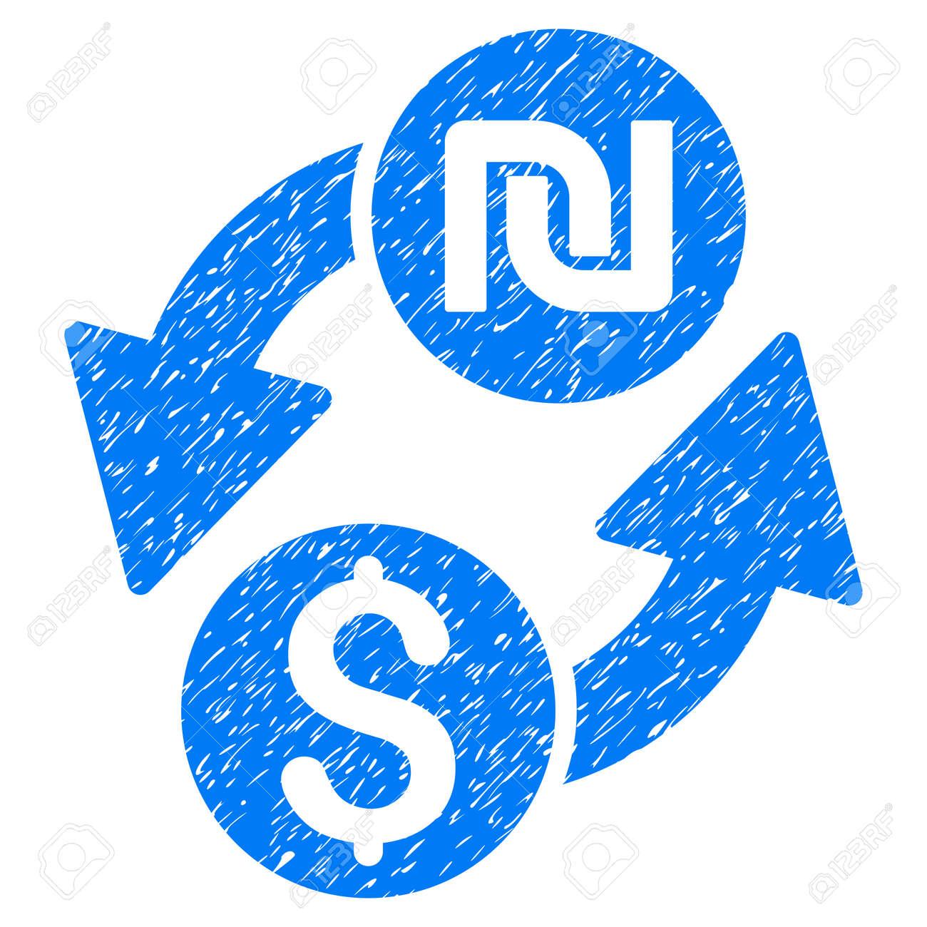 Dollar Shekel Exchange Grainy Textured Icon For Overlay Watermark
