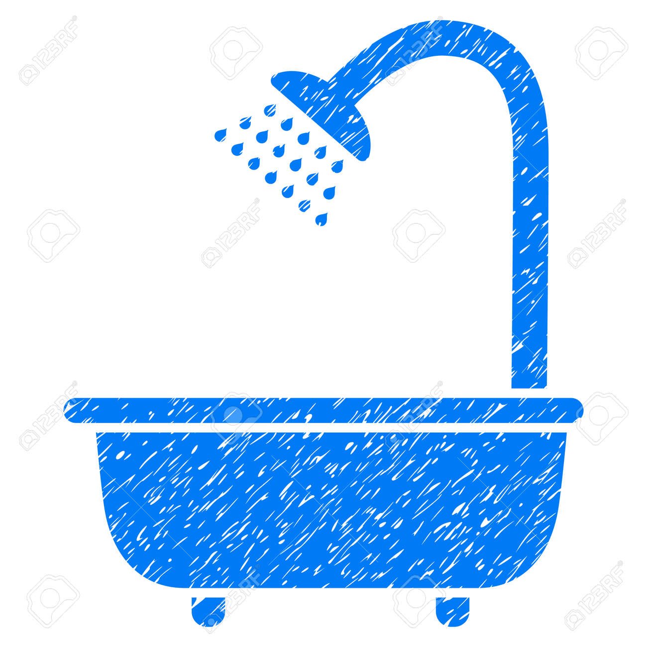 Bath Shower Grainy Textured Icon For Overlay Watermark Stamps ...