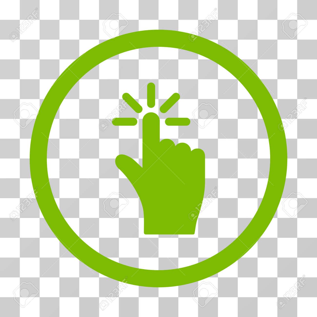 Vettoriale Fare Clic Sull Icona Arrotondato Stile Vettore E
