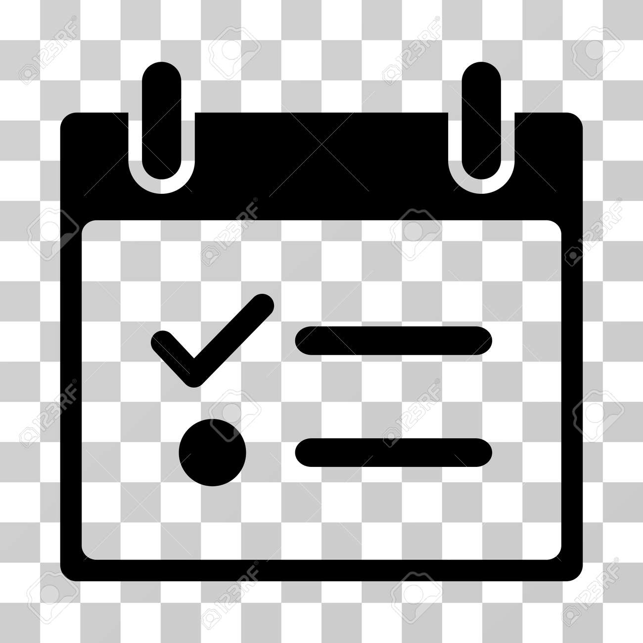 todo list calendar day icon vector illustration style is flat iconic symbol black color