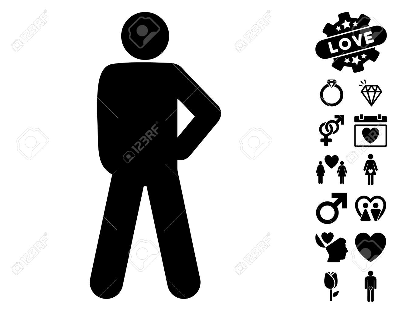 Audacity pose pictograph with bonus dating images vector illustration style is flat iconic black symbols