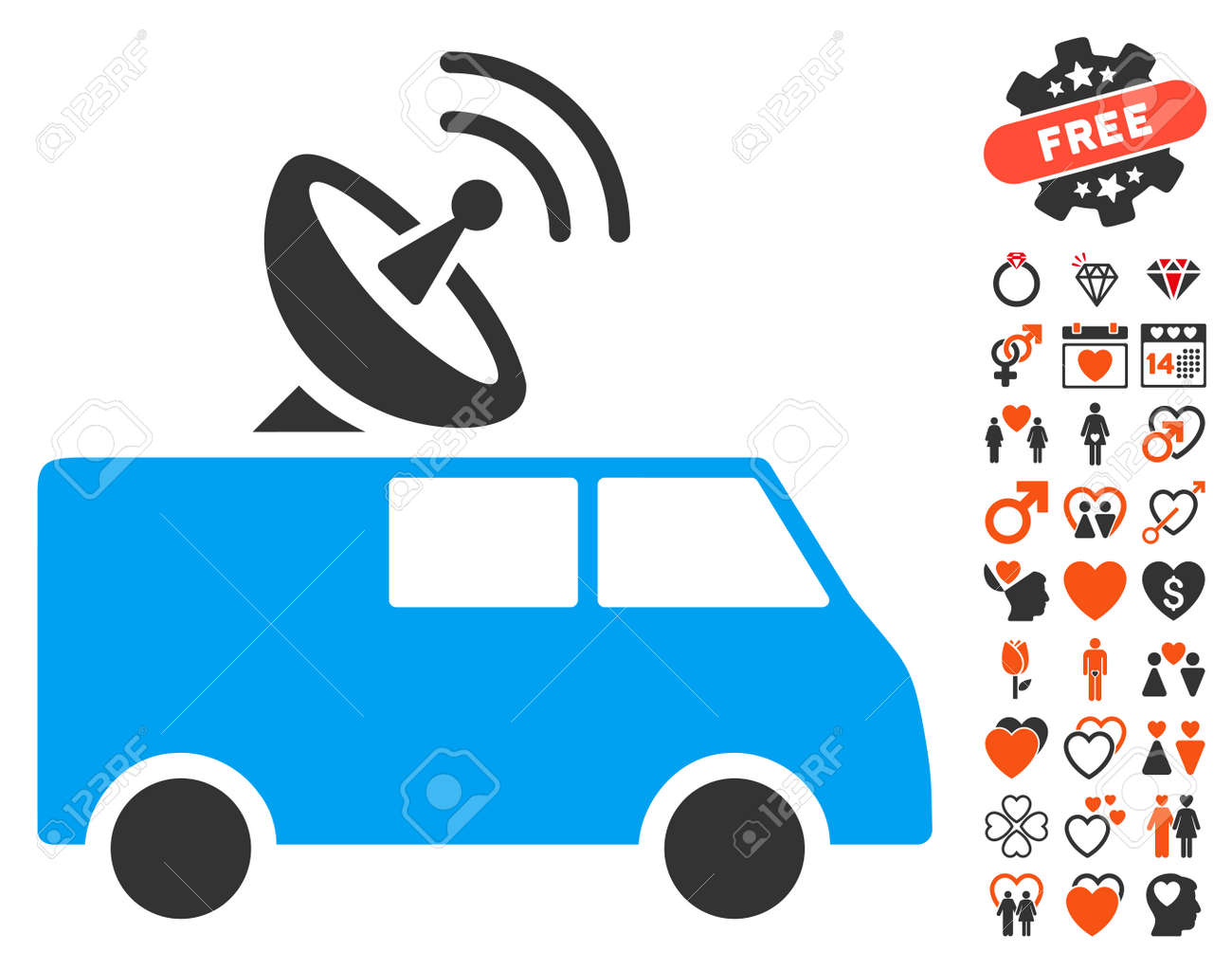 Radio Control Car Icon With Bonus Amour Symbols Vector Illustration