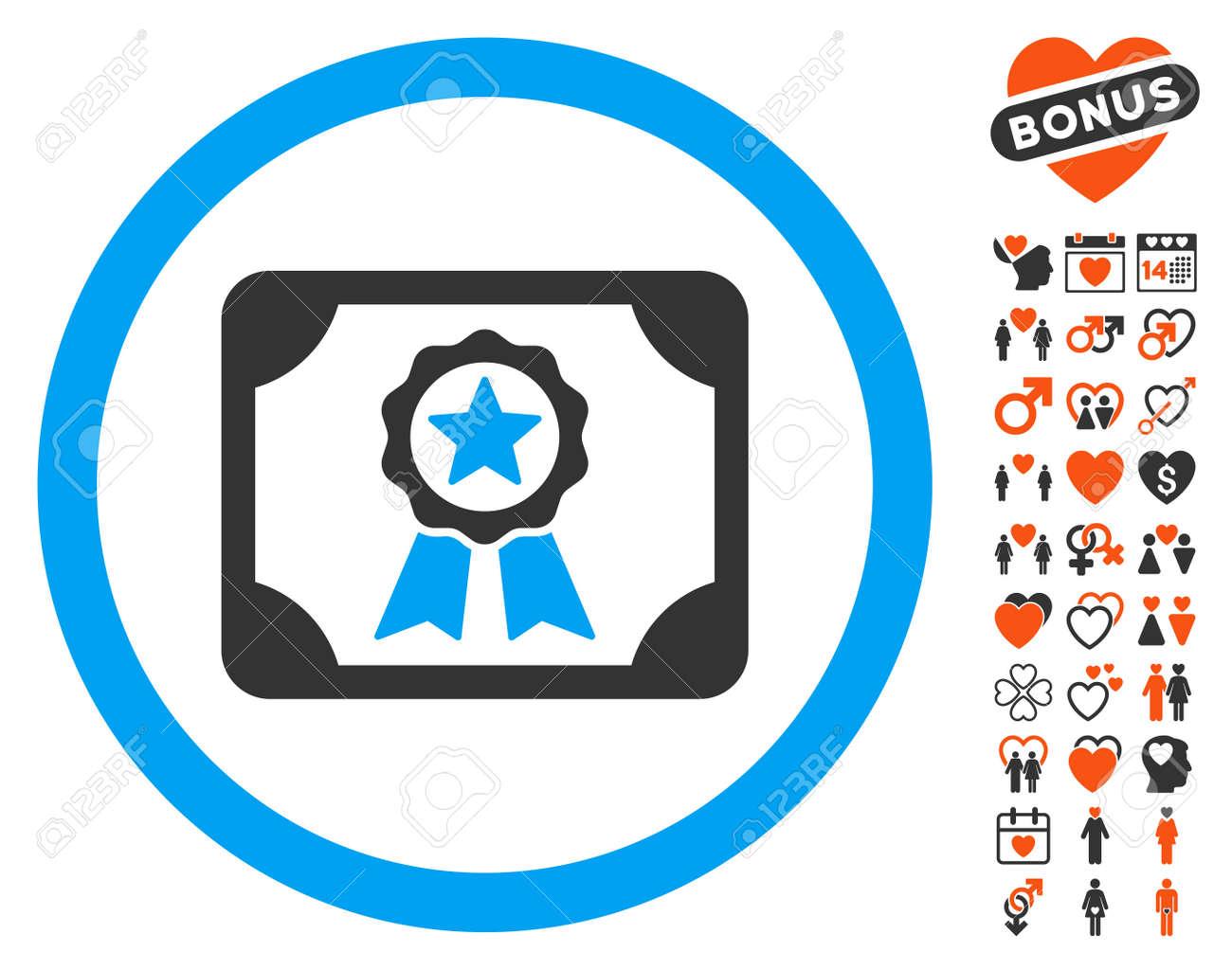Certificate icon with bonus marriage icon set vector illustration certificate icon with bonus marriage icon set vector illustration style is flat iconic symbols for buycottarizona