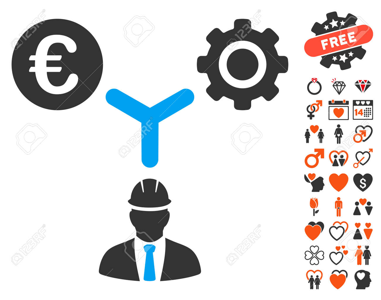 Euro development relations pictograph with bonus lovely symbols euro development relations pictograph with bonus lovely symbols vector illustration style is flat iconic symbols biocorpaavc Gallery