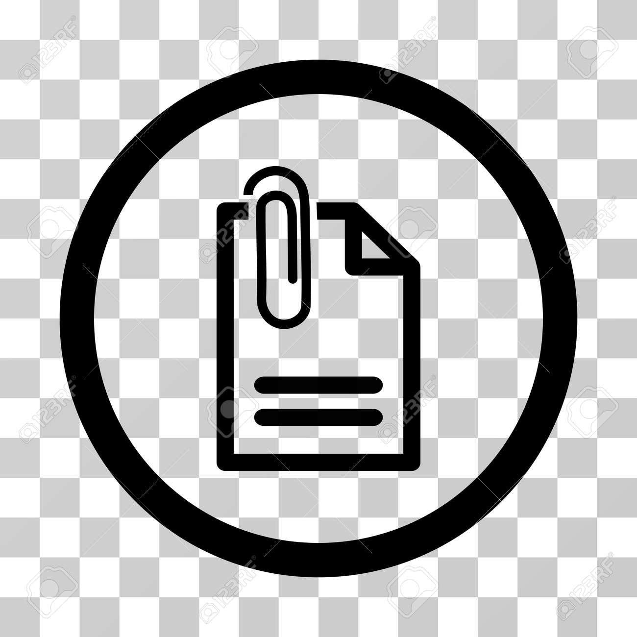 Attach Document Vector Icon. Illustration Style Is A Flat Iconic ...