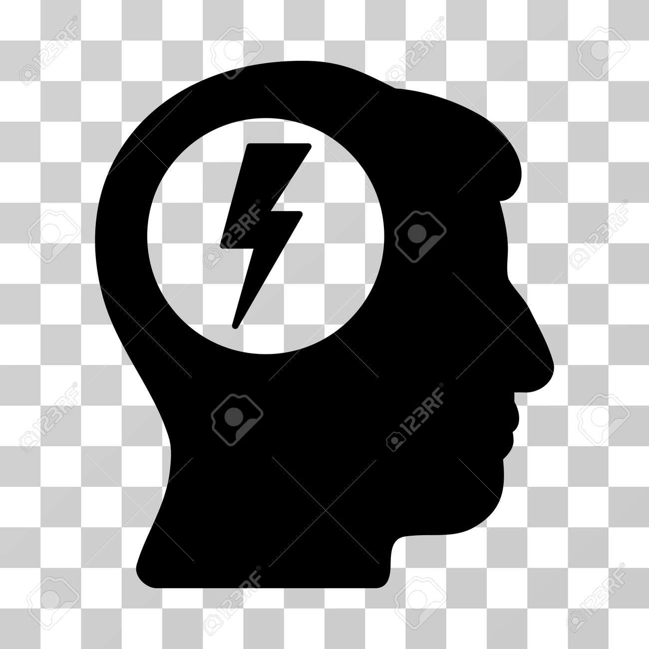 Brain electric shock vector pictograph illustration style is brain electric shock vector pictograph illustration style is a flat iconic black symbol on a biocorpaavc Image collections