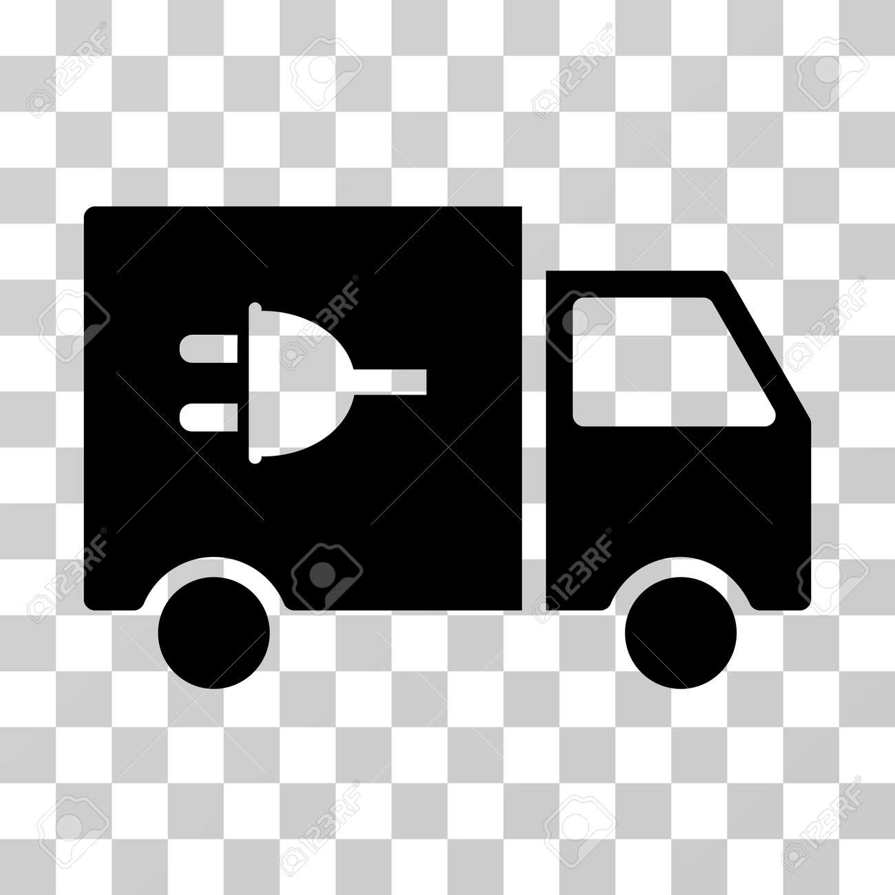 Electric Car Vector Pictogram. Illustration Style Is A Flat Iconic ...