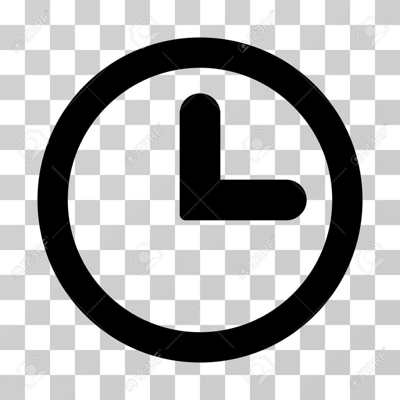 clock vector icon illustration style is flat iconic black symbol rh 123rf com clock icon vector free download clock icon vector png