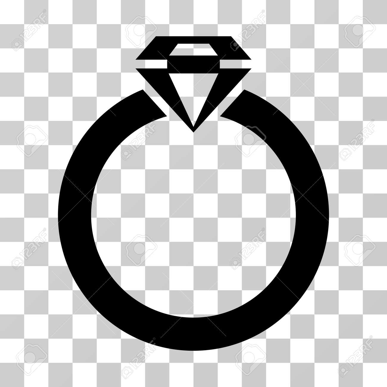 Diamond Ring Icon Vector Illustration Style Is Flat Iconic Symbol