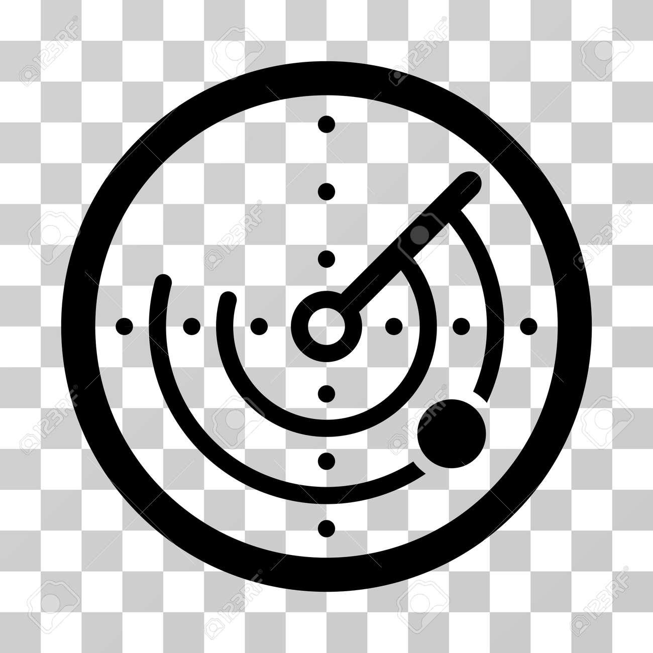 Radar Icon Vector Illustration Style Is Flat Iconic Symbol