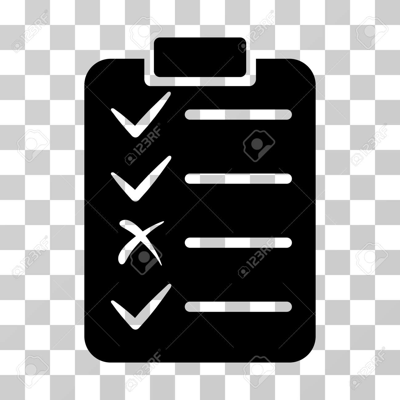 task list icon vector illustration style is flat iconic symbol black color transparent