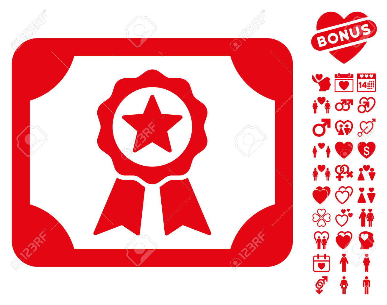 Certificate icon with bonus amour graphic icons vector certificate icon with bonus amour graphic icons vector illustration style is flat iconic red symbols buycottarizona