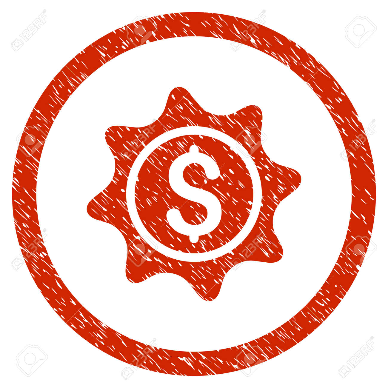 money sticker grainy textured icon inside circle for overlay