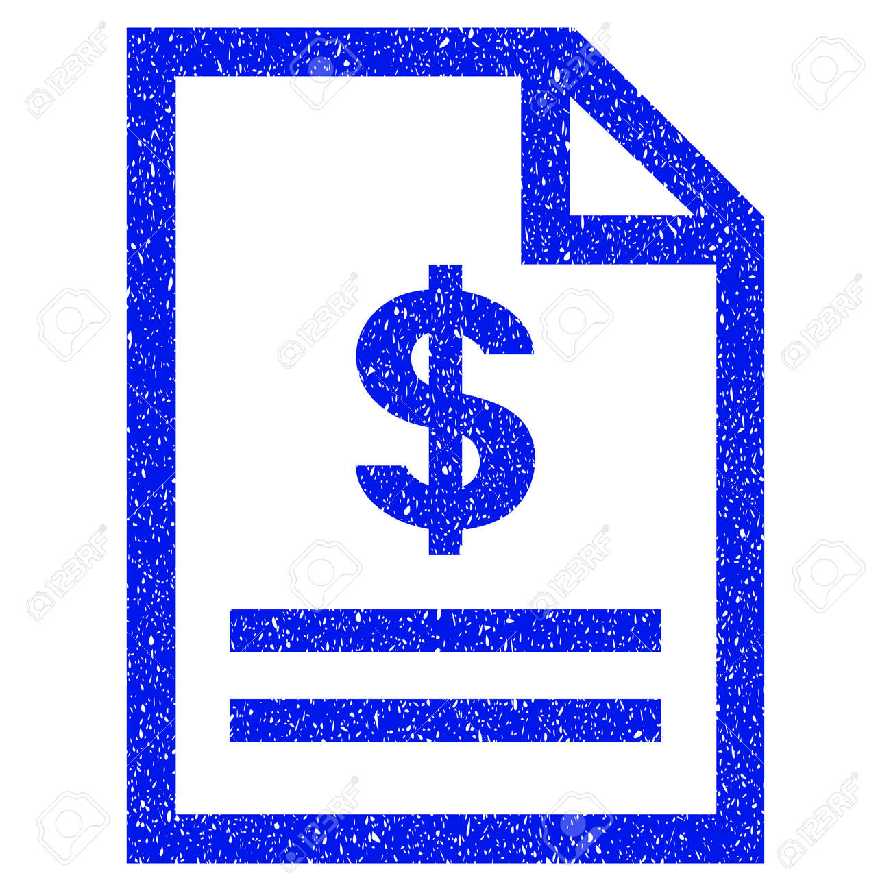 Grunge Invoice Page Icon With Grunge Design And Scratched Texture