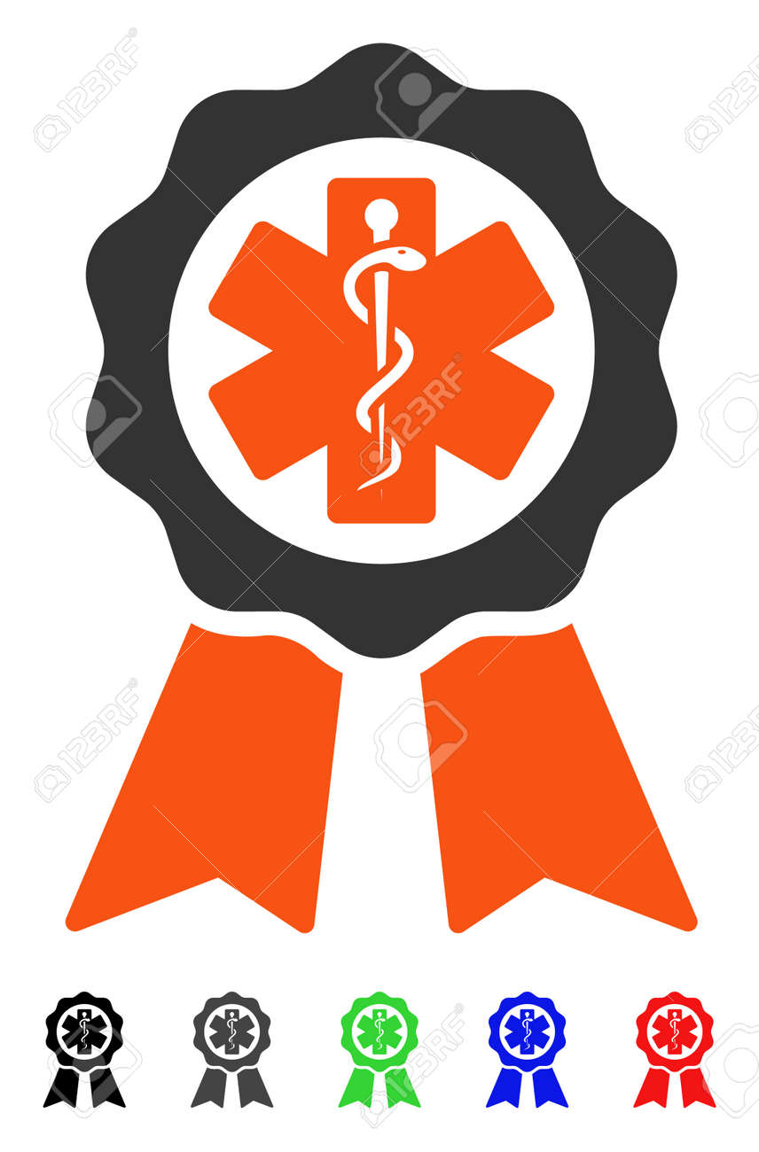 medical seal flat vector illustration with colored versions rh 123rf com Oval Seal Vector Texas State Seal Vector Art