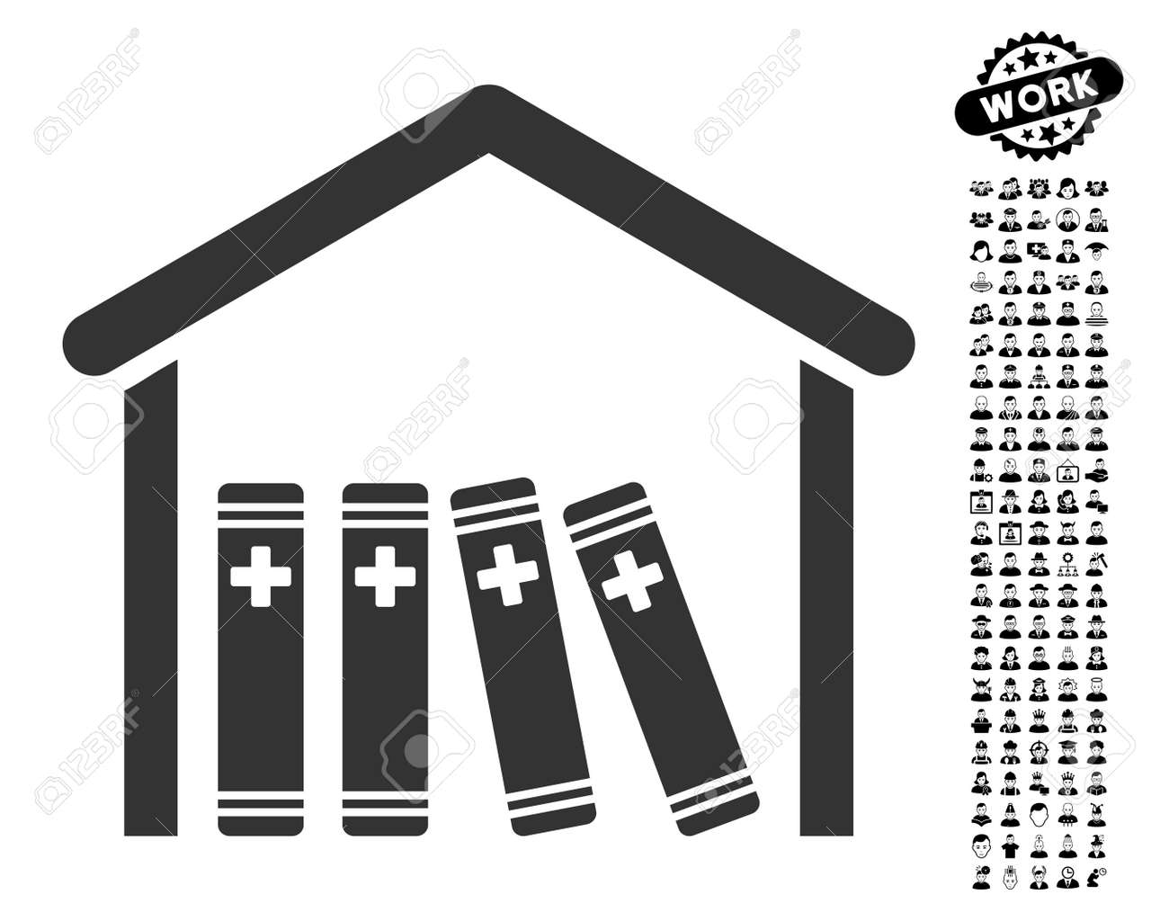 Medical Library Icon With Black Bonus Profession Images Medical