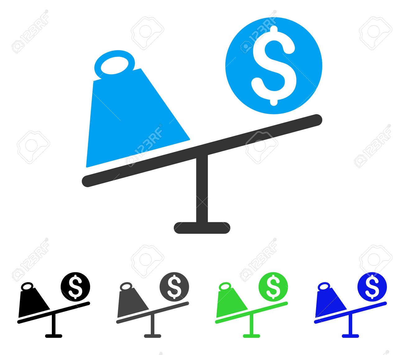 Ilustración De Vector Plano De Swing De Comercio Variaciones Coloreadas Del Icono Del Oscilación Gris Negro Azul Verde Del Comercio Coloreado