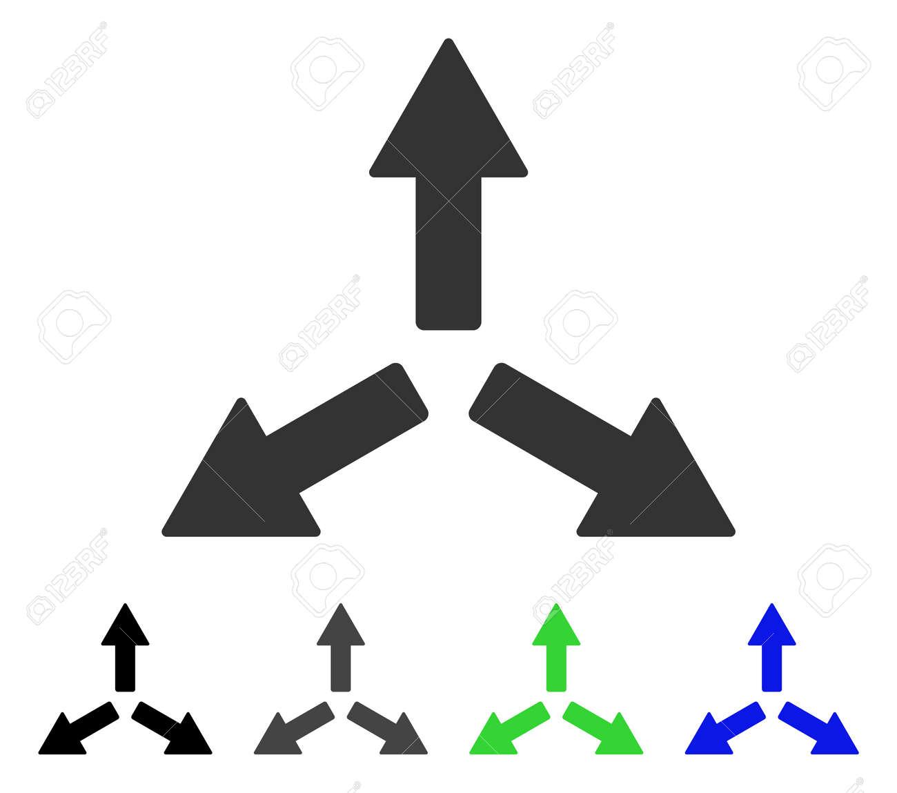 Expandir Icono De Vector Plano De Flechas. Colorear Las Flechas De ...