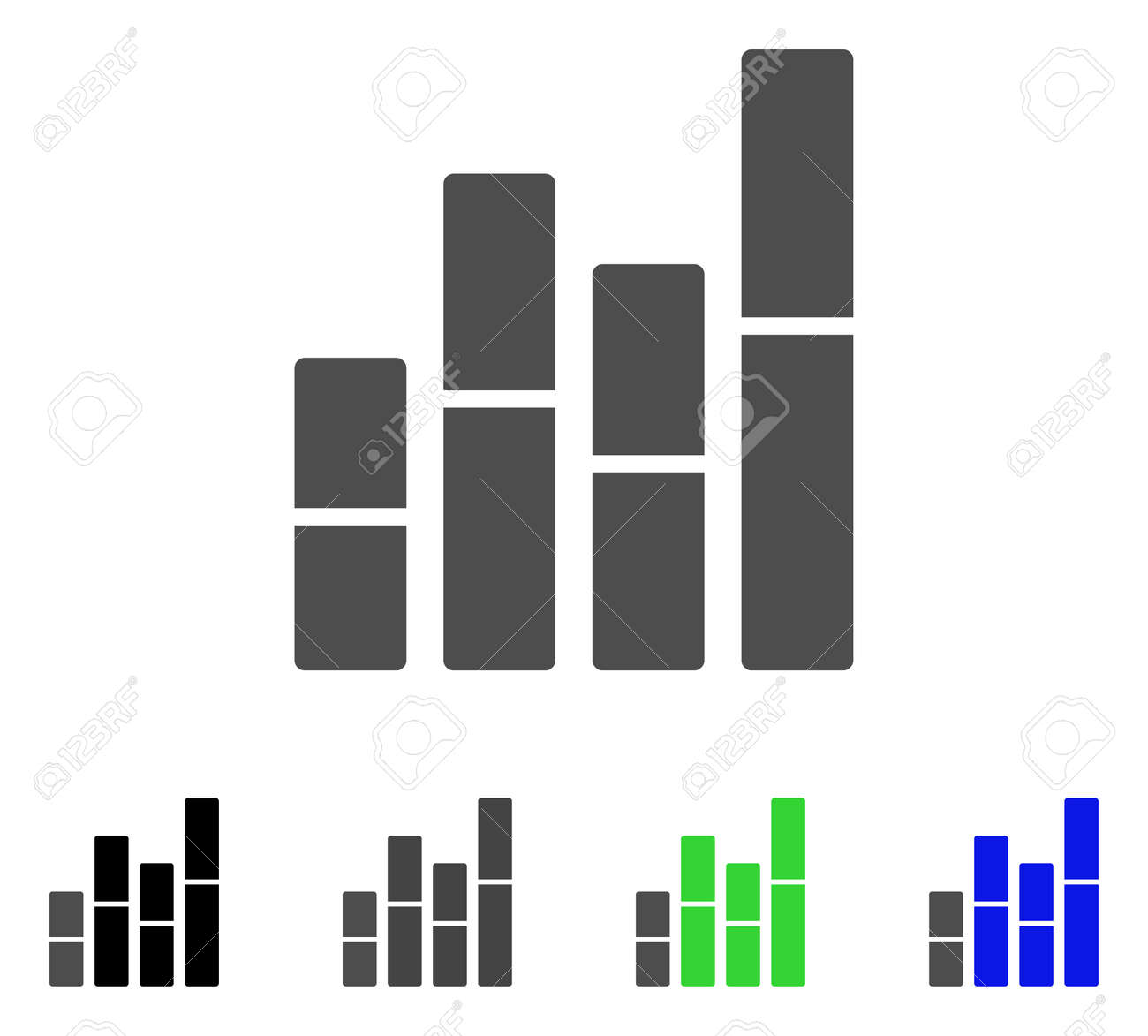 Bar charts flat vector pictogram colored bar charts gray black bar charts flat vector pictogram colored bar charts gray black blue ccuart Image collections