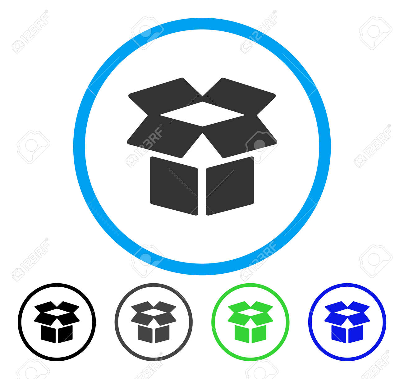Open box rounded icon vector illustration style is a flat iconic open box rounded icon vector illustration style is a flat iconic symbol inside a circle biocorpaavc Choice Image