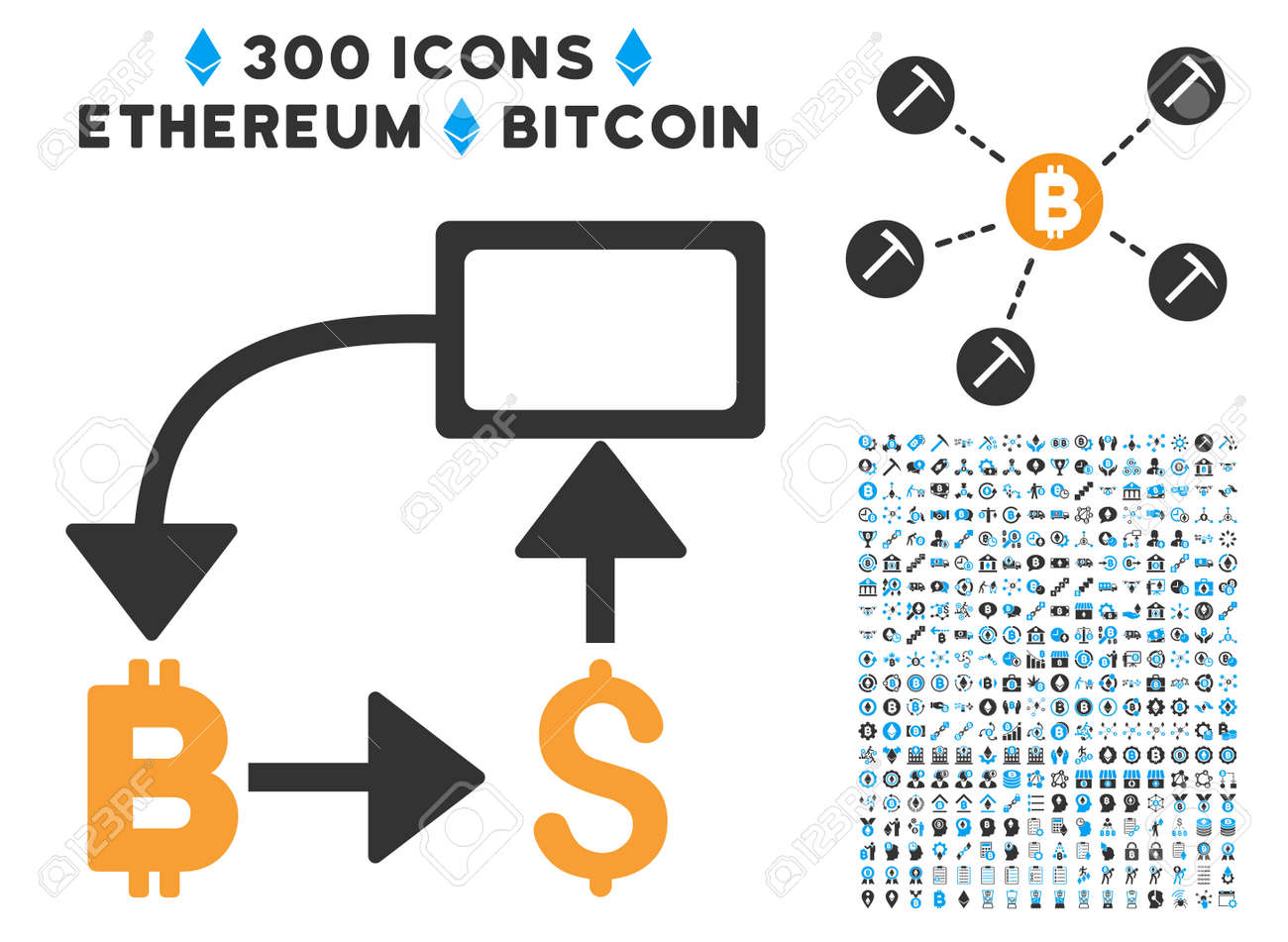 Bitcoin dollar flow chart pictograph with 300 blockchain bitcoin dollar flow chart pictograph with 300 blockchain cryptocurrency ethereum smart contract pictograms nvjuhfo Choice Image