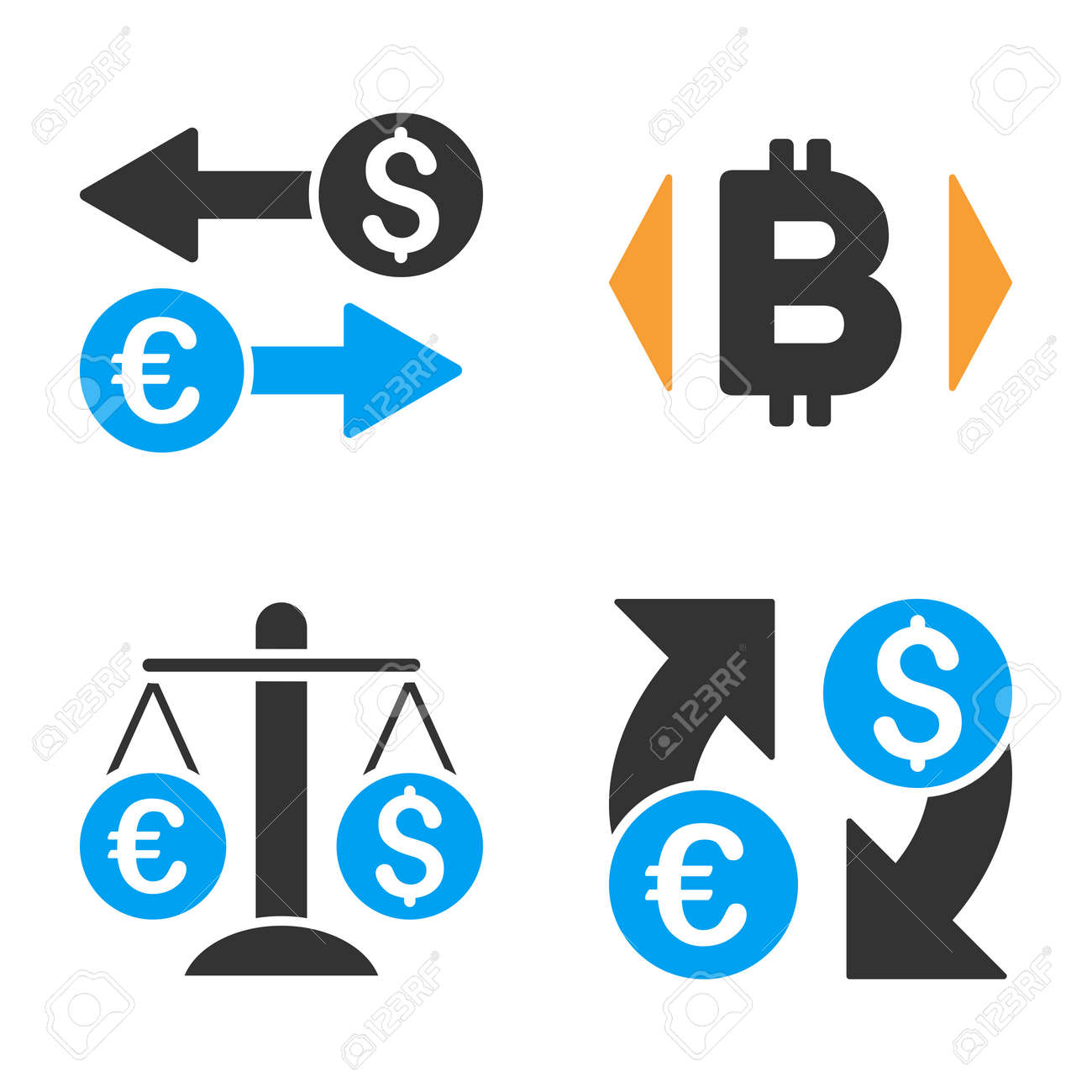 Currency exchange vector icon set style is bicolor flat symbols currency exchange vector icon set style is bicolor flat symbols stock vector 84613583 biocorpaavc Images
